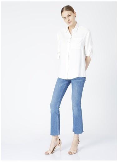 Fabrika Comfort Fabrika Comfort Grossete Beyaz Kadın Gömlek Beyaz